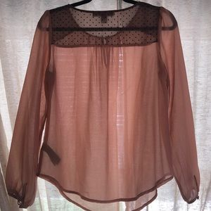 Forever 21 Tops - Sheer long sleeve top with button details
